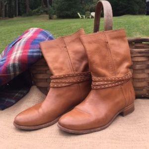 Frye Slip On Leather Shortie Boots